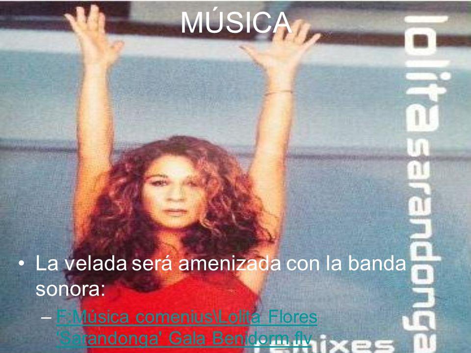MÚSICA La velada será amenizada con la banda sonora: