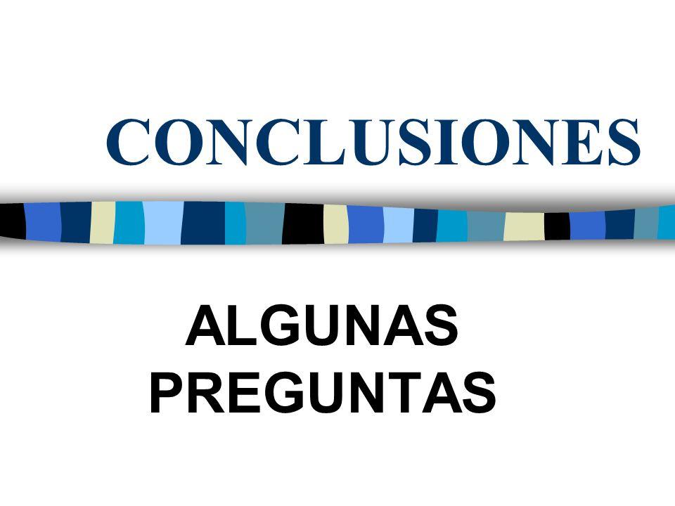CONCLUSIONES ALGUNAS PREGUNTAS
