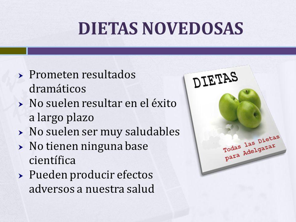 DIETAS NOVEDOSAS Prometen resultados dramáticos