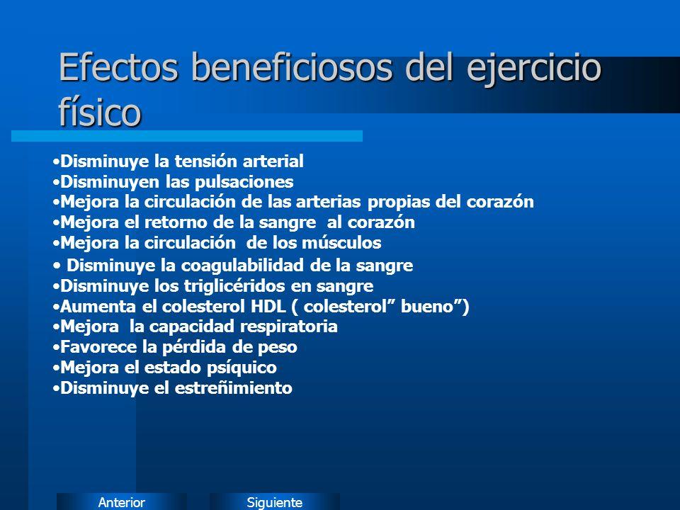 Efectos beneficiosos del ejercicio físico