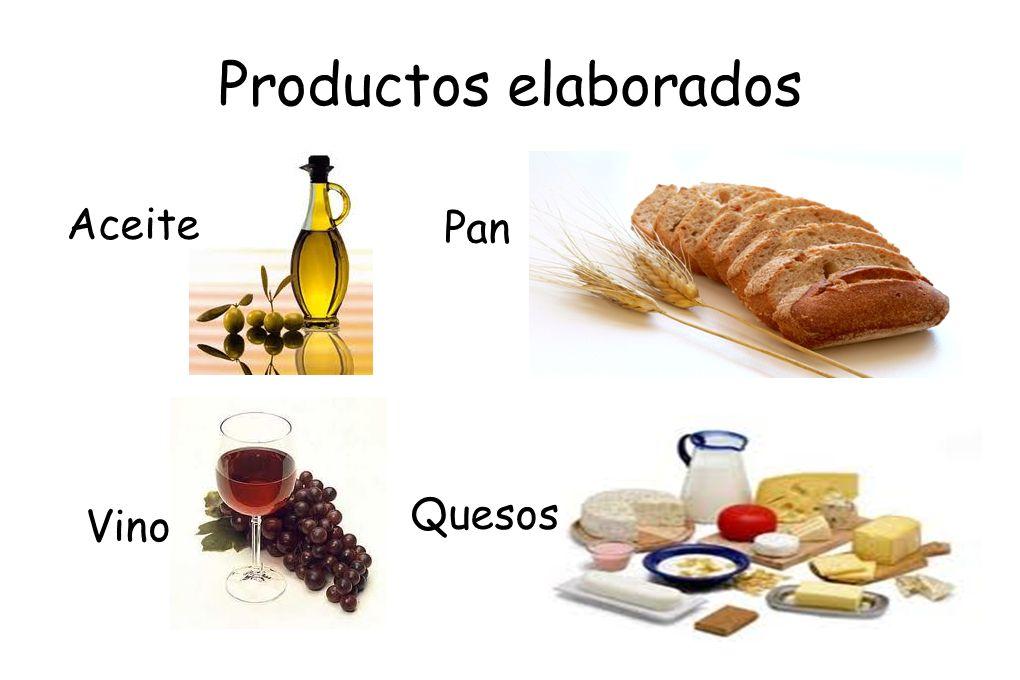 Productos elaborados Aceite Pan Quesos Vino
