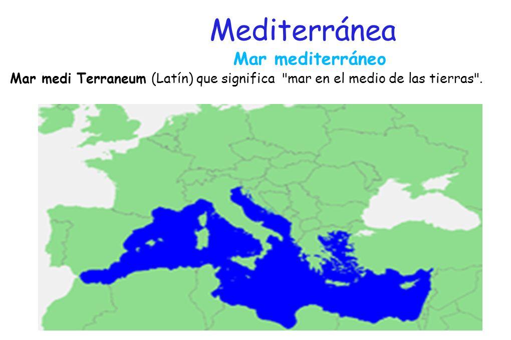 Mediterránea Mar mediterráneo