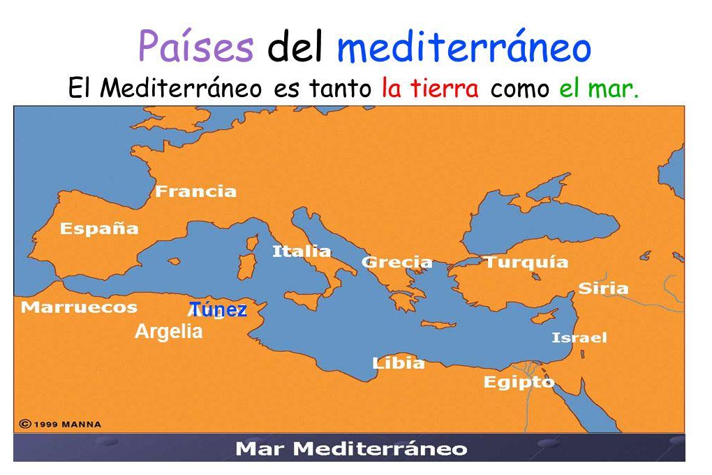 Países del mediterráneo