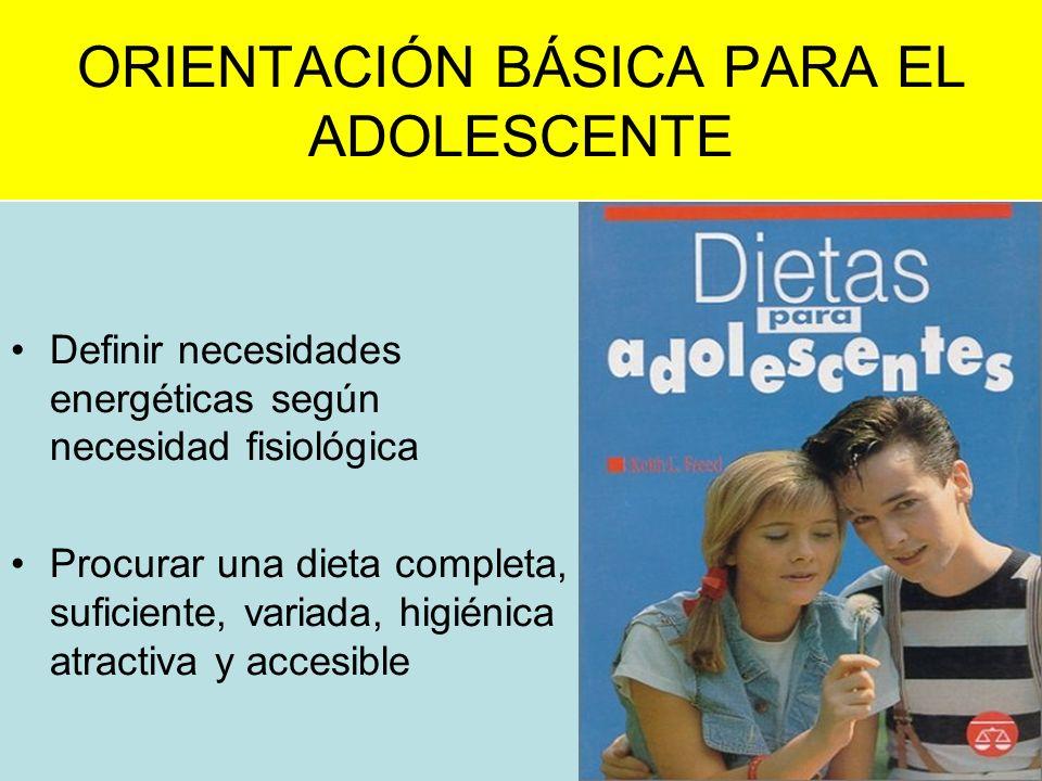 ORIENTACIÓN BÁSICA PARA EL ADOLESCENTE