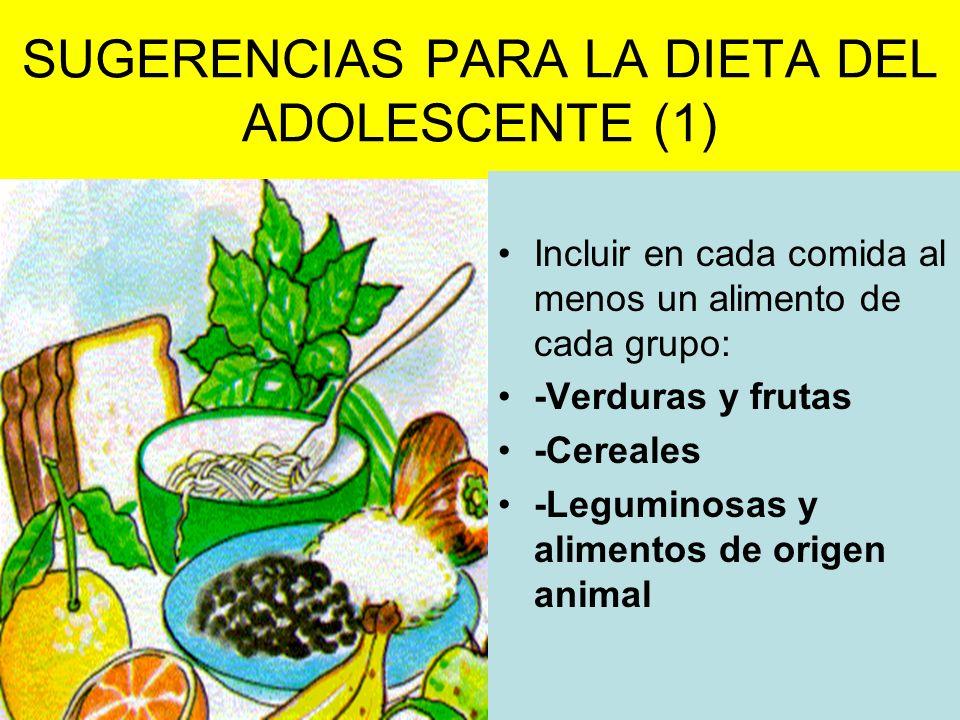 SUGERENCIAS PARA LA DIETA DEL ADOLESCENTE (1)