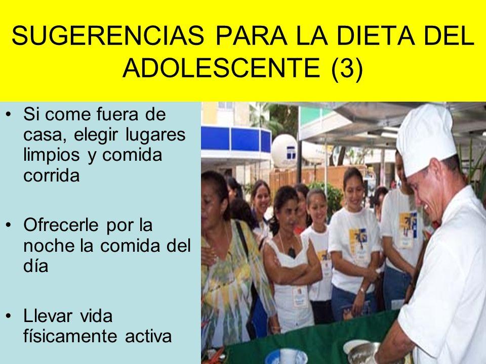 SUGERENCIAS PARA LA DIETA DEL ADOLESCENTE (3)