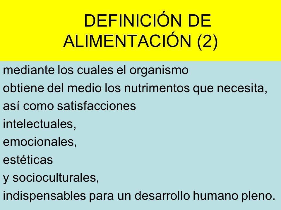 DEFINICIÓN DE ALIMENTACIÓN (2)