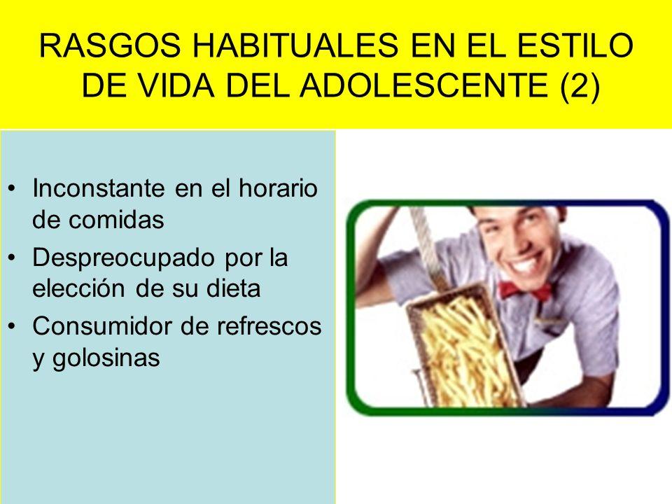 RASGOS HABITUALES EN EL ESTILO DE VIDA DEL ADOLESCENTE (2)