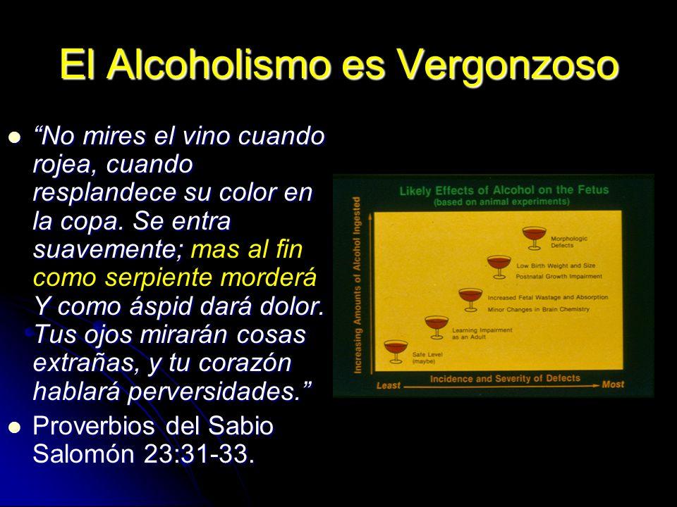 El Alcoholismo es Vergonzoso