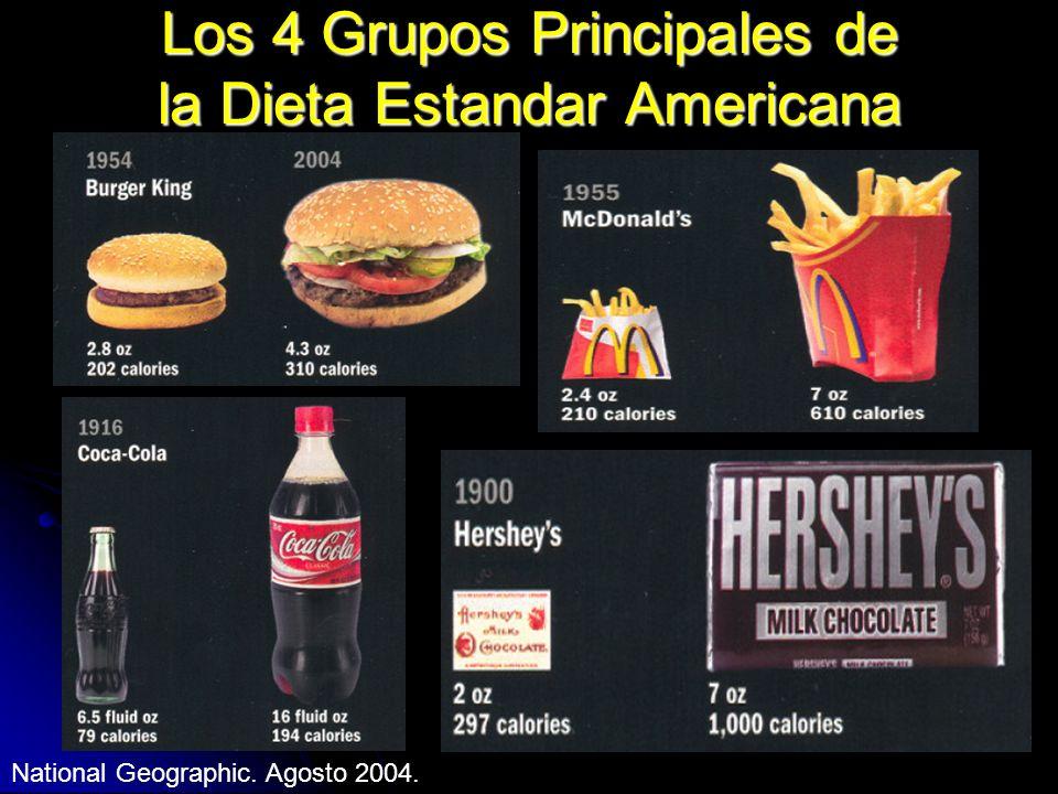 Los 4 Grupos Principales de la Dieta Estandar Americana