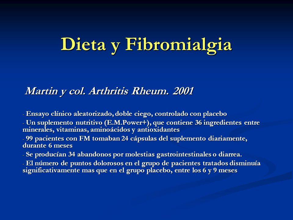 Dieta y Fibromialgia Martin y col. Arthritis Rheum. 2001
