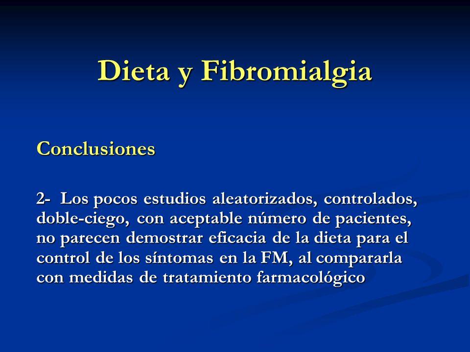Dieta y Fibromialgia Conclusiones