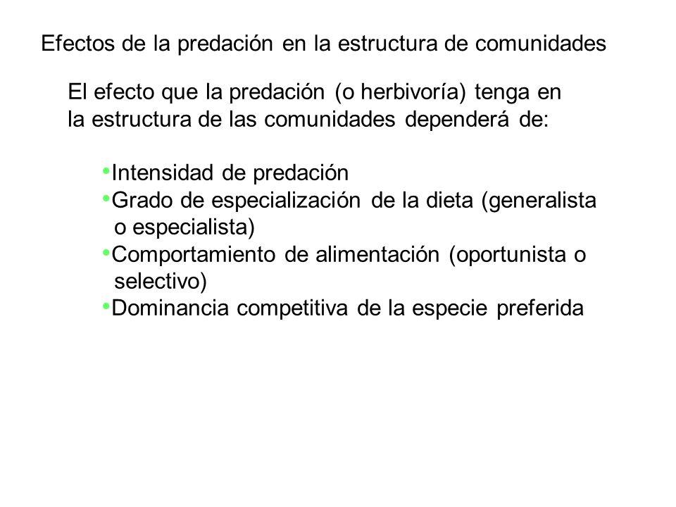 Efectos de la predación en la estructura de comunidades