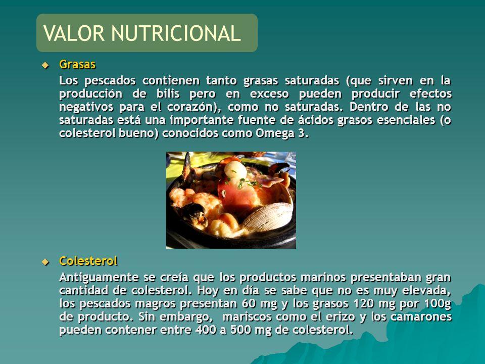 VALOR NUTRICIONAL Grasas