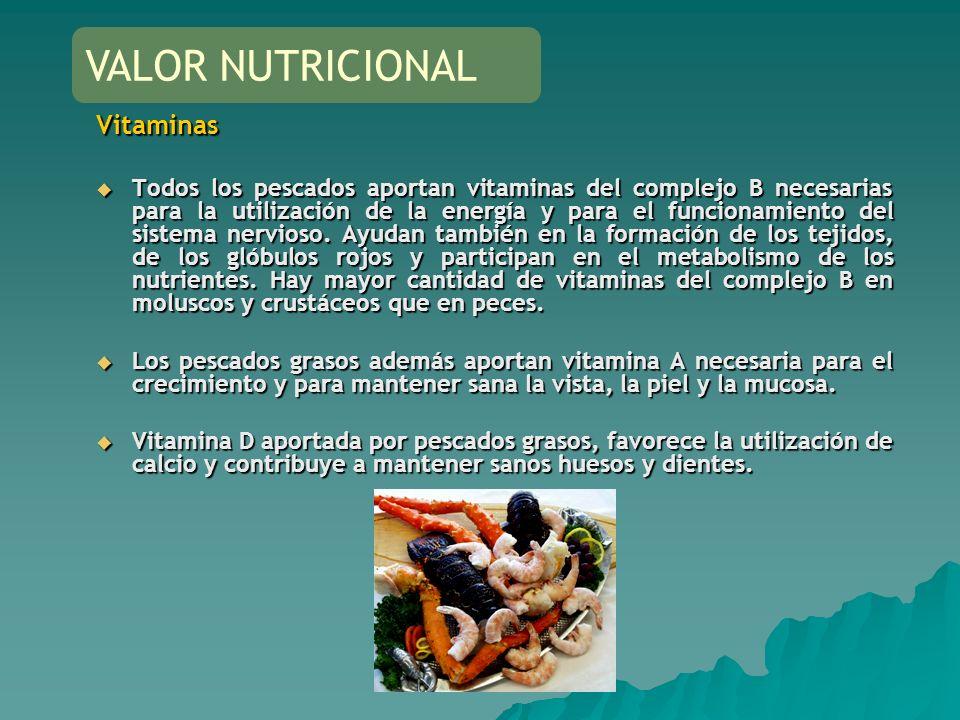VALOR NUTRICIONAL Vitaminas