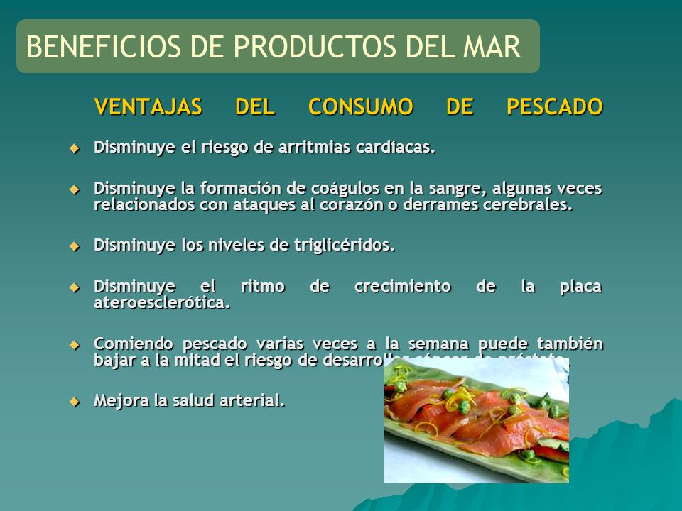 BENEFICIOS DE PRODUCTOS DEL MAR