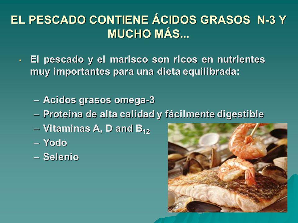 EL PESCADO CONTIENE ÁCIDOS GRASOS N-3 Y MUCHO MÁS...