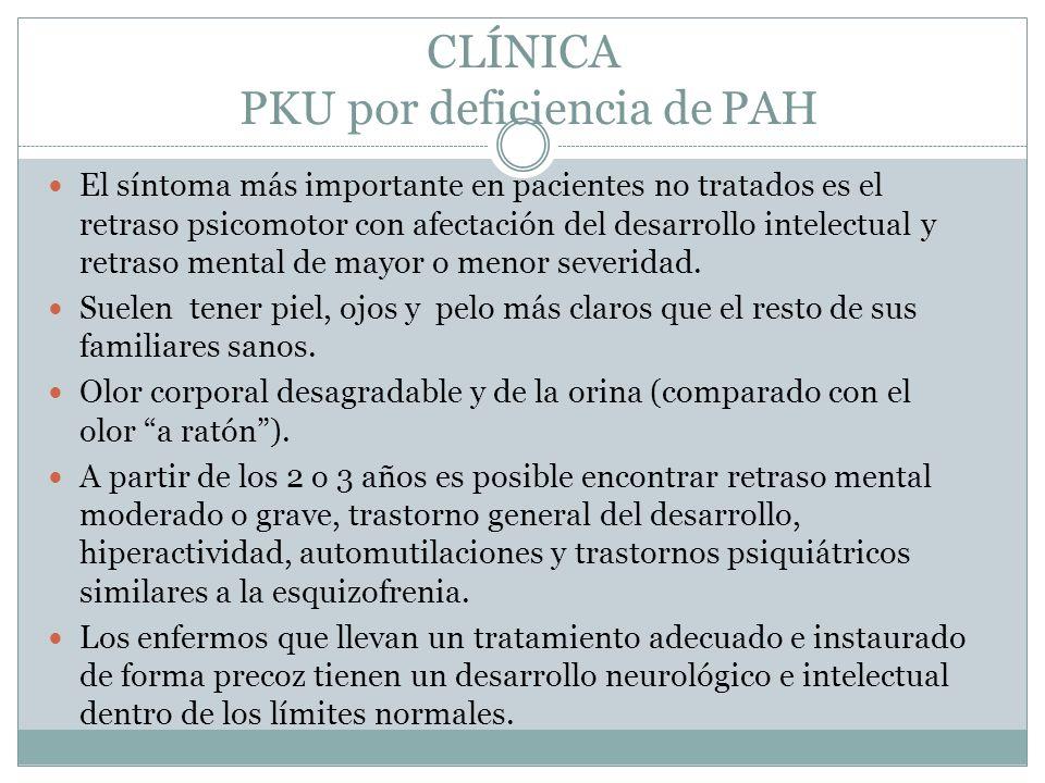 CLÍNICA PKU por deficiencia de PAH