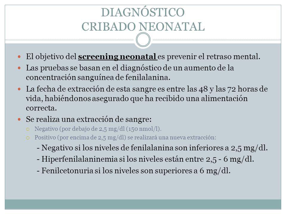 DIAGNÓSTICO CRIBADO NEONATAL