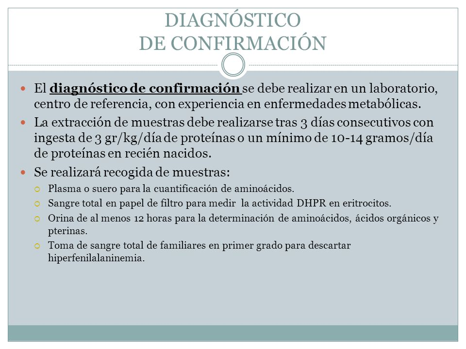 DIAGNÓSTICO DE CONFIRMACIÓN
