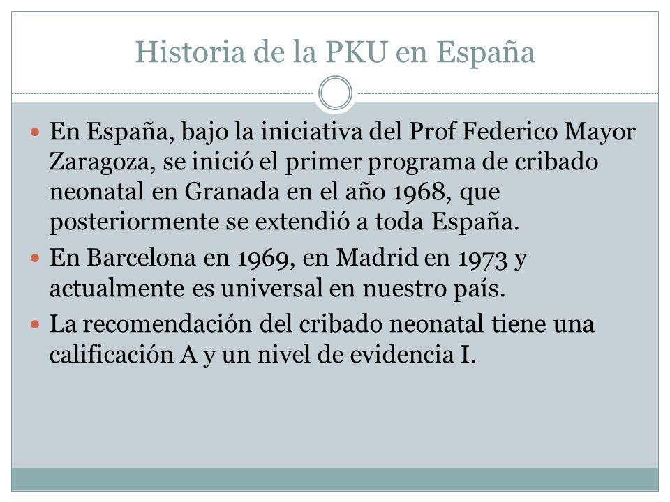 Historia de la PKU en España
