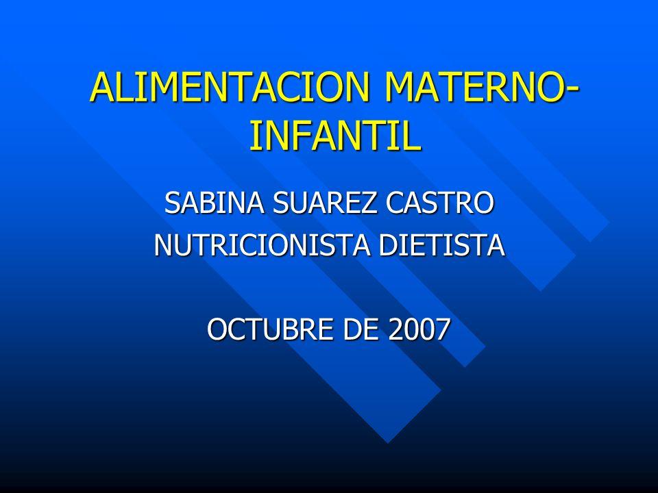 ALIMENTACION MATERNO-INFANTIL