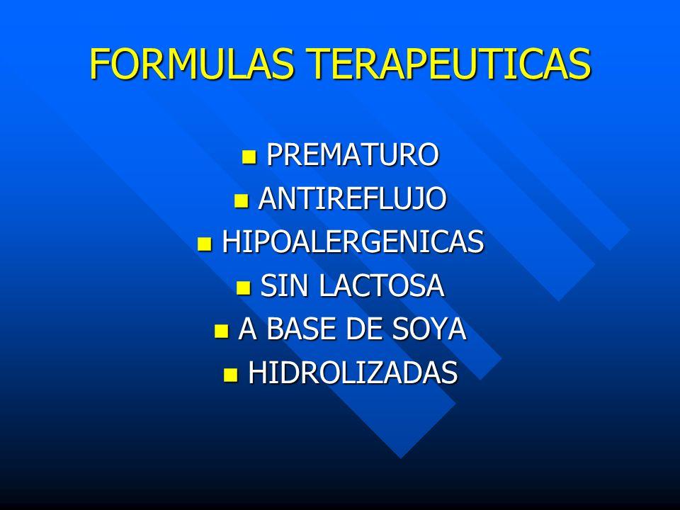 FORMULAS TERAPEUTICAS