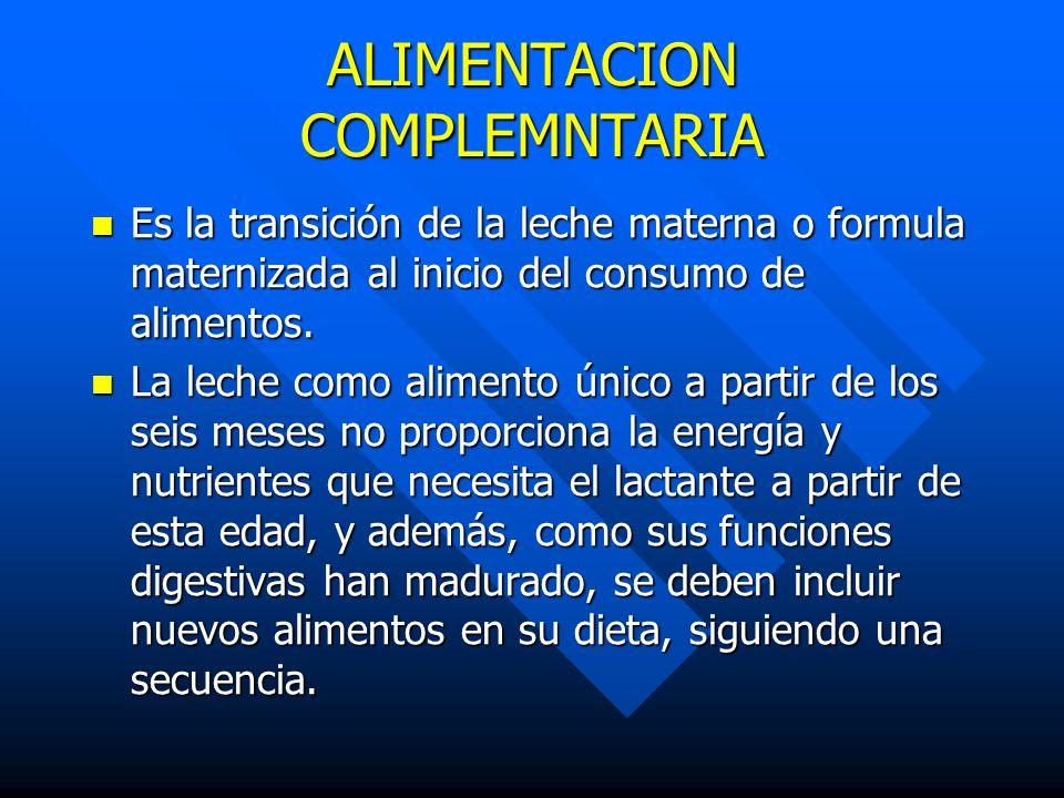 ALIMENTACION COMPLEMNTARIA