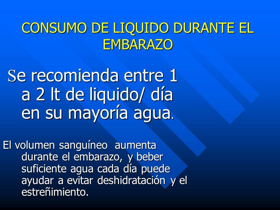 CONSUMO DE LIQUIDO DURANTE EL EMBARAZO