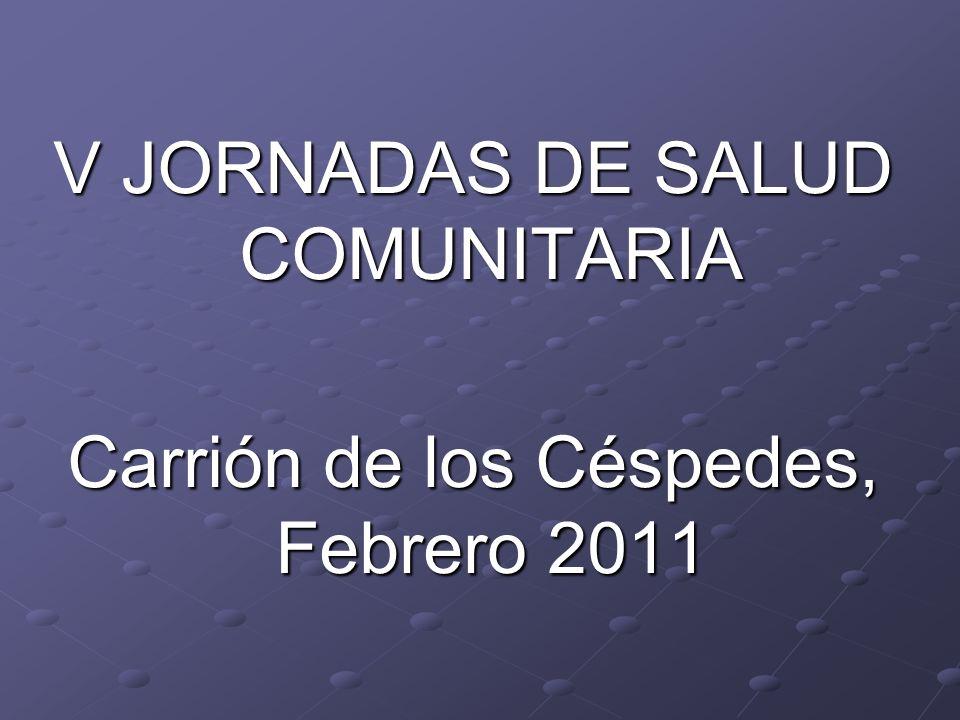 V JORNADAS DE SALUD COMUNITARIA