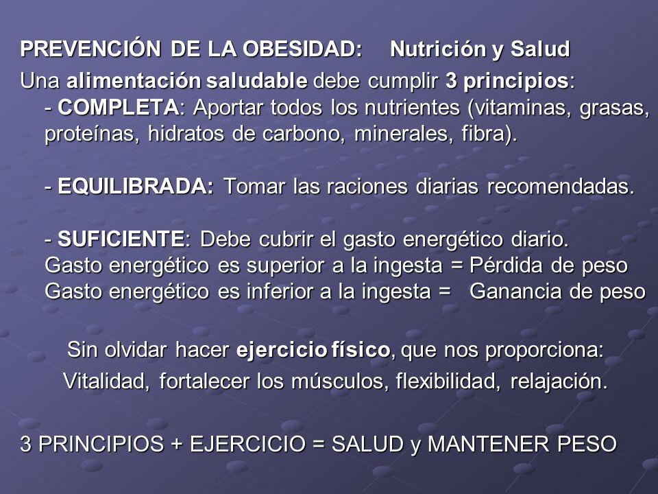 PREVENCIÓN DE LA OBESIDAD: Nutrición y Salud