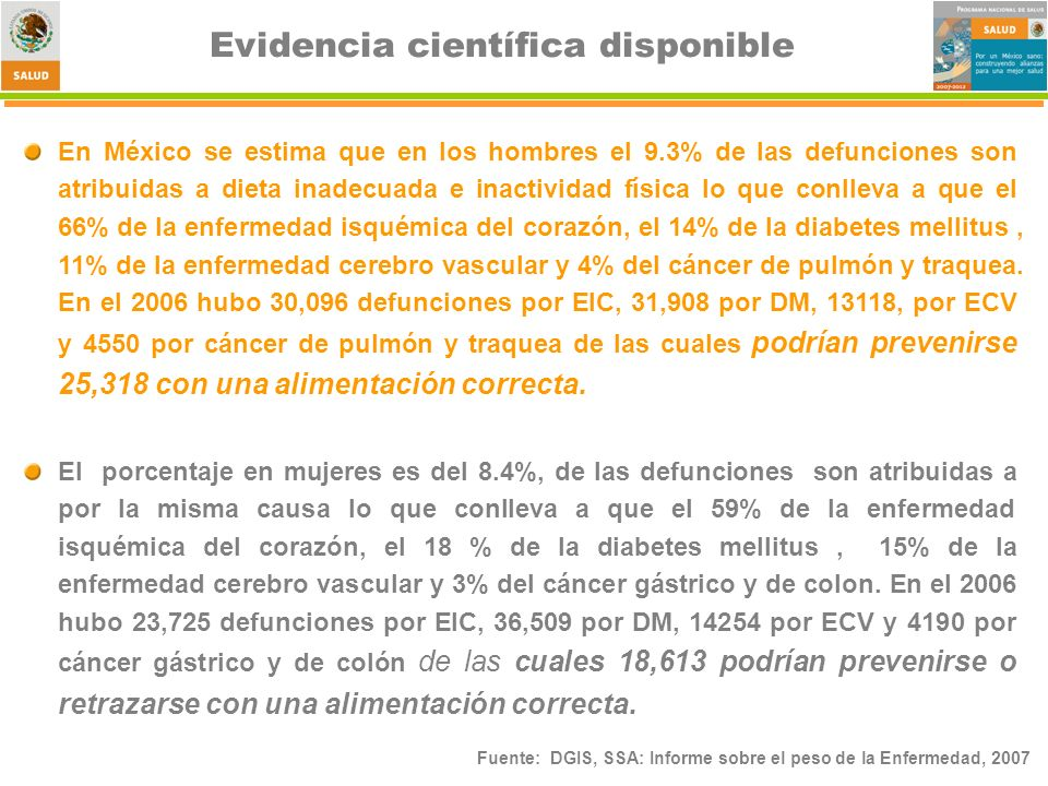 Evidencia científica disponible