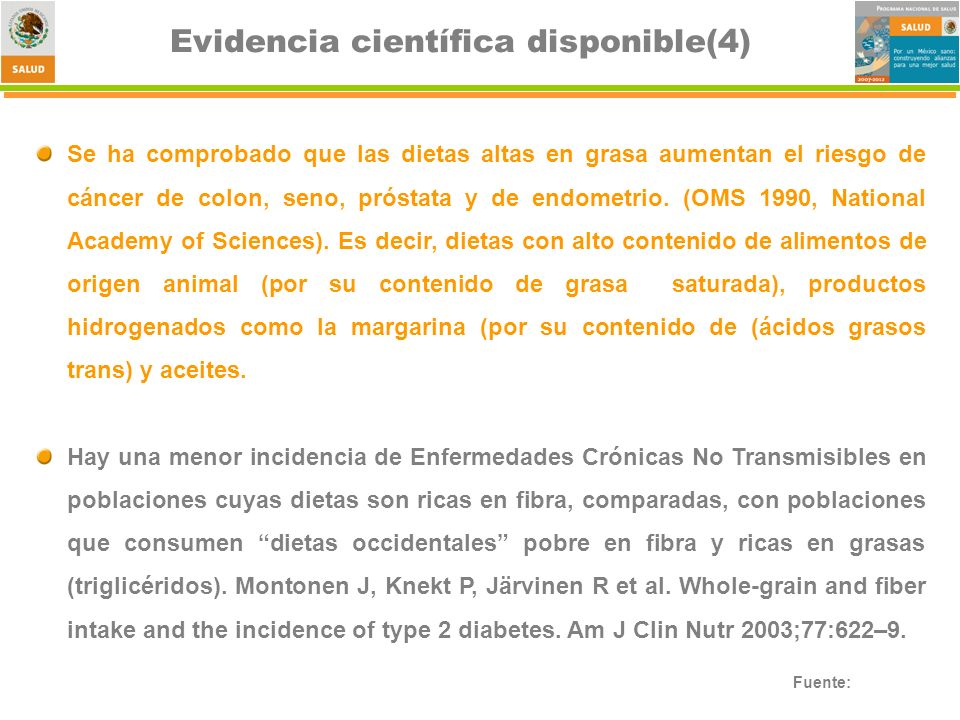 Evidencia científica disponible(4)