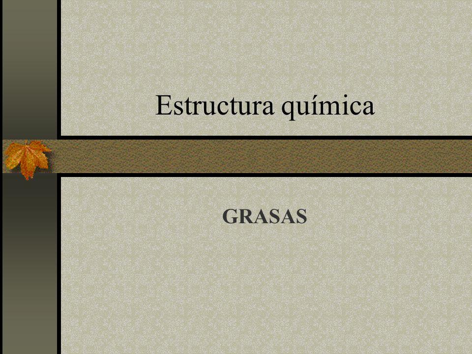 Estructura química GRASAS