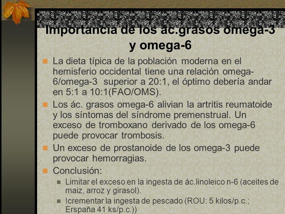 Importancia de los ác.grasos omega-3 y omega-6