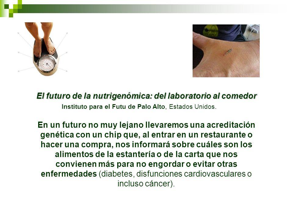 El futuro de la nutrigenómica: del laboratorio al comedor