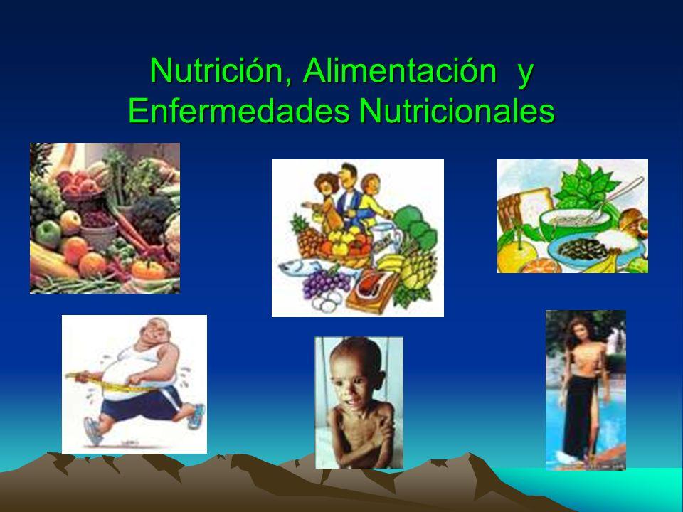 Nutrición, Alimentación y Enfermedades Nutricionales