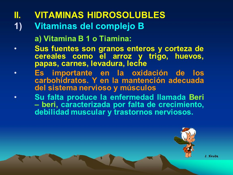 a) Vitamina B 1 o Tiamina: