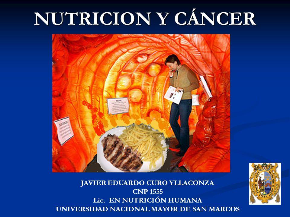 NUTRICION Y CÁNCER JAVIER EDUARDO CURO YLLACONZA CNP 1555