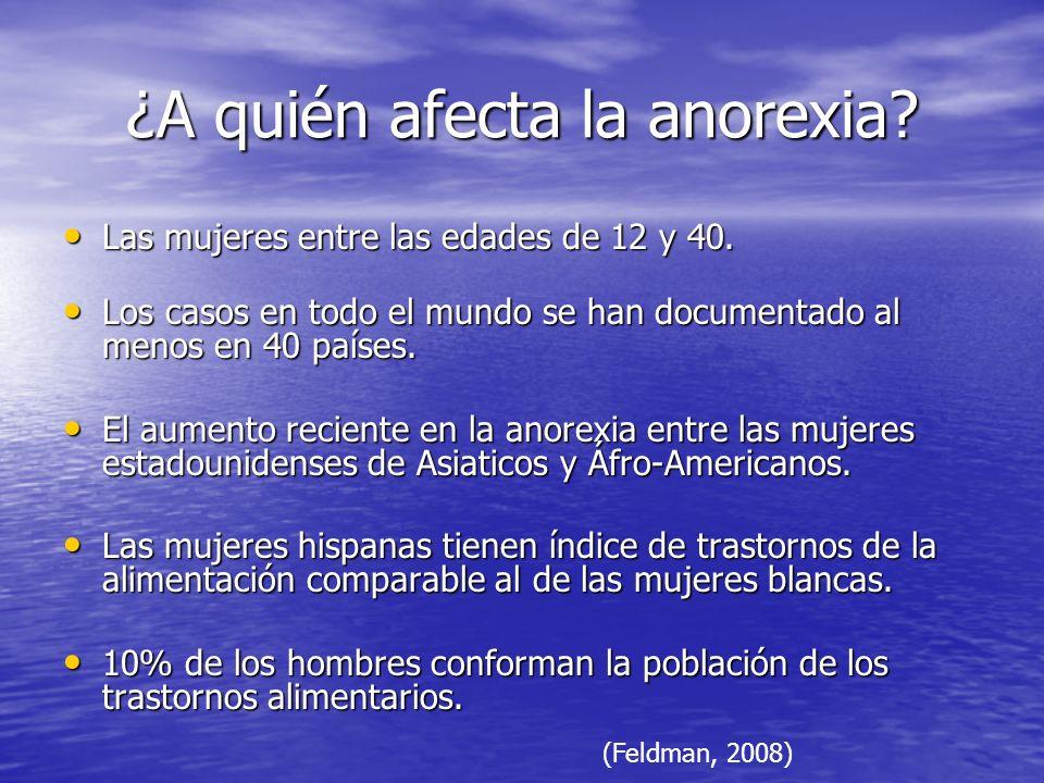 ¿A quién afecta la anorexia
