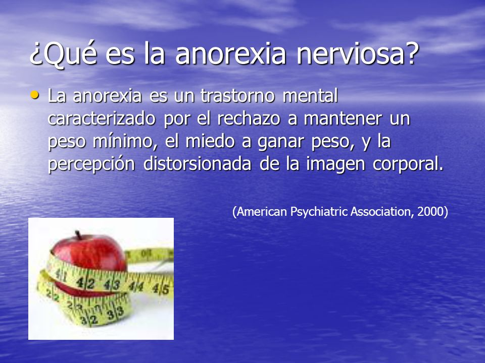 ¿Qué es la anorexia nerviosa