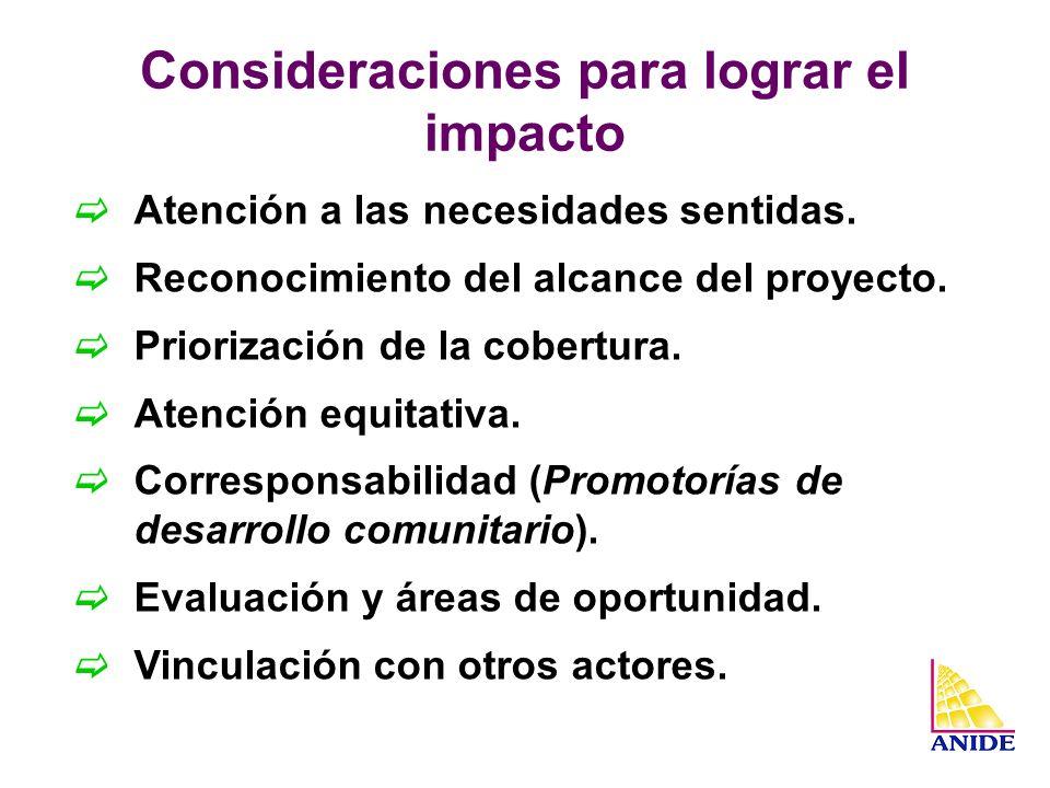 Consideraciones para lograr el impacto