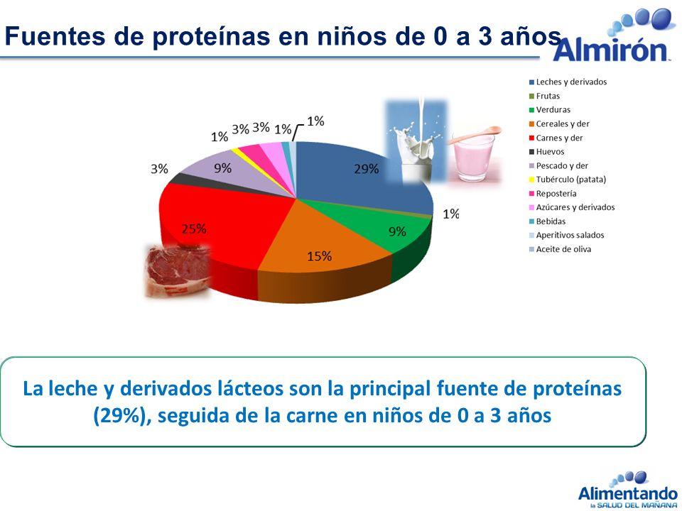 Fuentes de proteínas en niños de 0 a 3 años