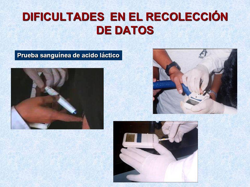DIFICULTADES EN EL RECOLECCIÓN DE DATOS