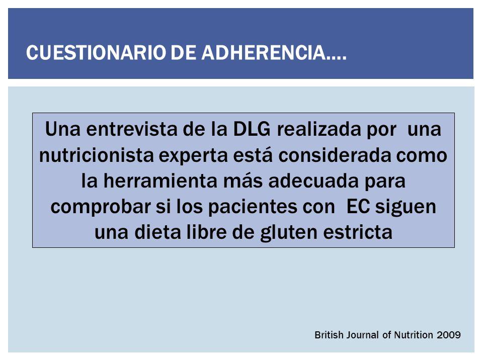 CUESTIONARIO DE ADHERENCIA….