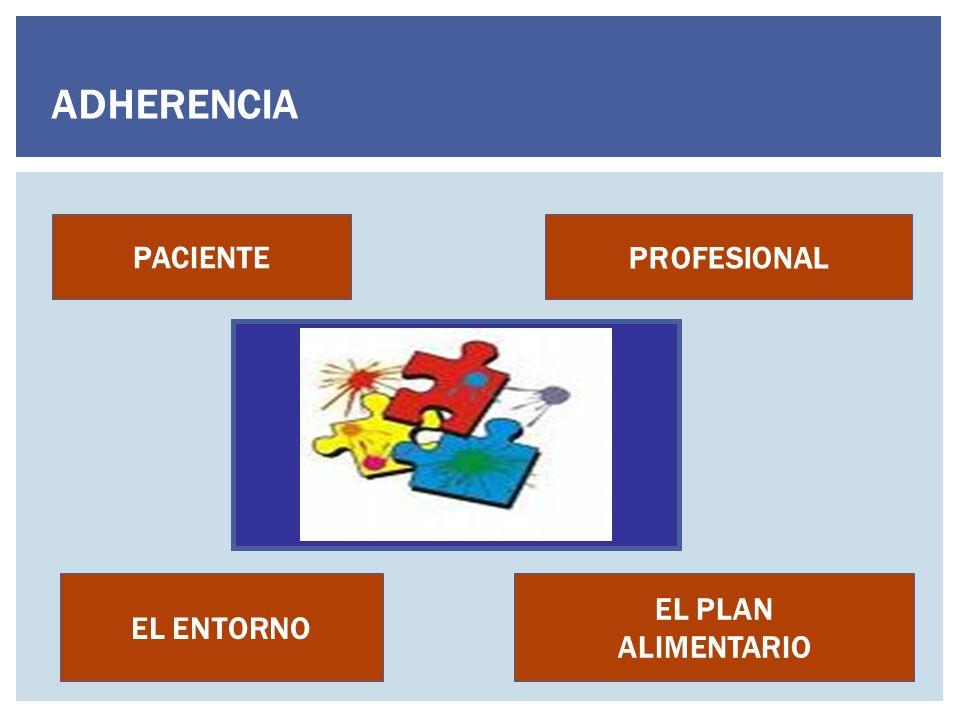 ADHERENCIA PACIENTE PROFESIONAL EL ENTORNO EL PLAN ALIMENTARIO