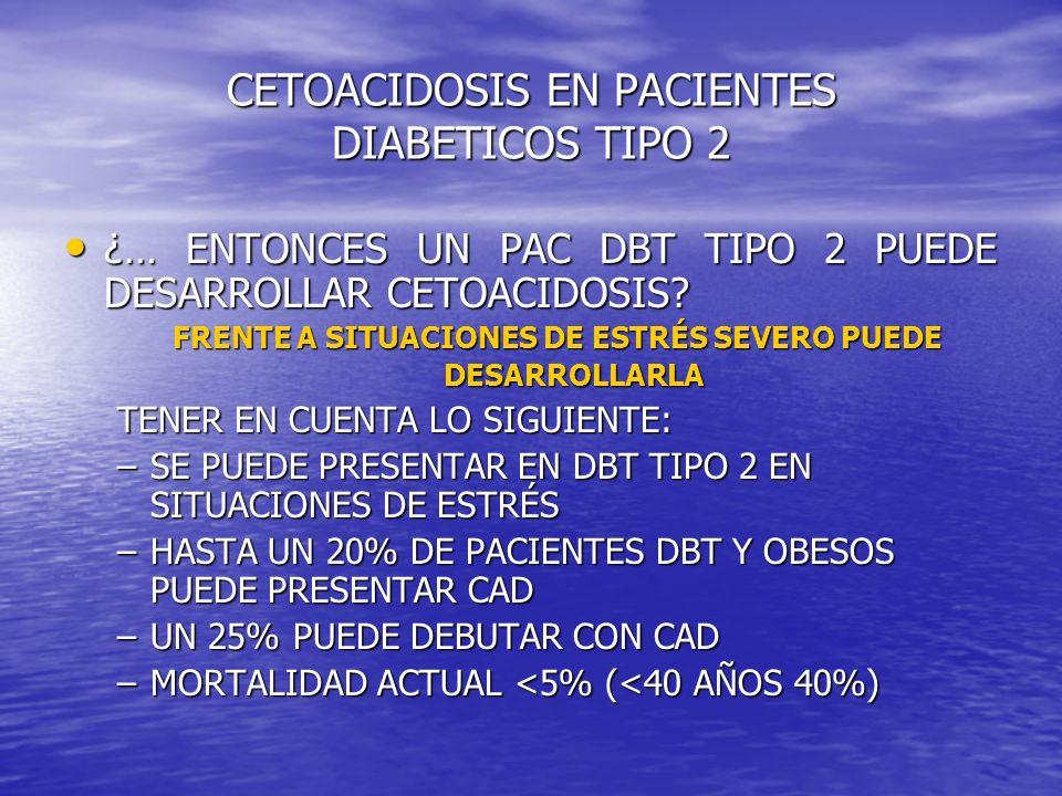 CETOACIDOSIS EN PACIENTES DIABETICOS TIPO 2