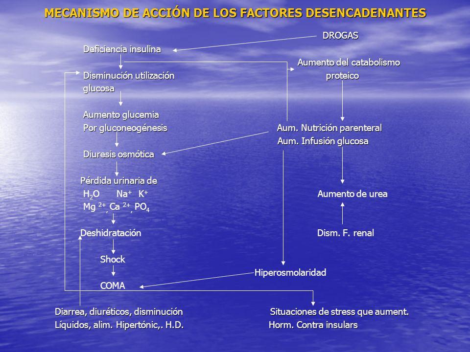 MECANISMO DE ACCIÓN DE LOS FACTORES DESENCADENANTES