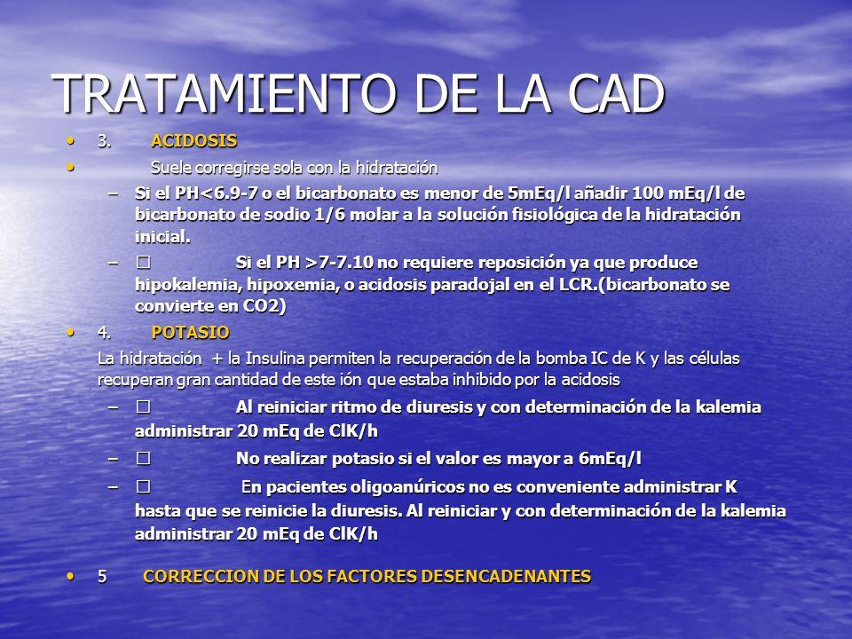 TRATAMIENTO DE LA CAD 3. ACIDOSIS