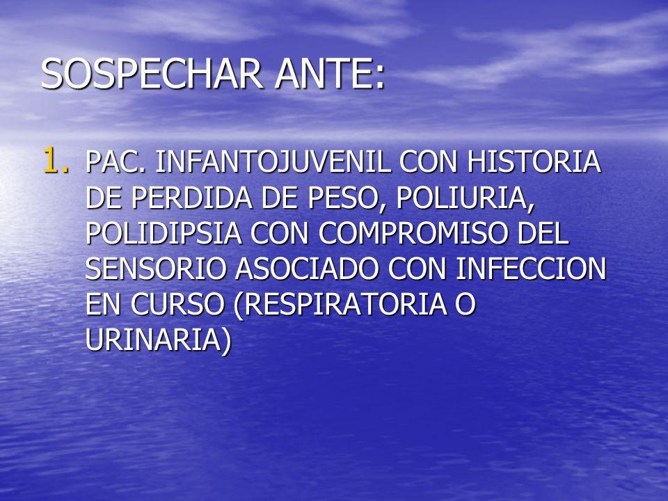 SOSPECHAR ANTE: